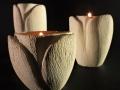 Tulipano_porta candele_tris_nero