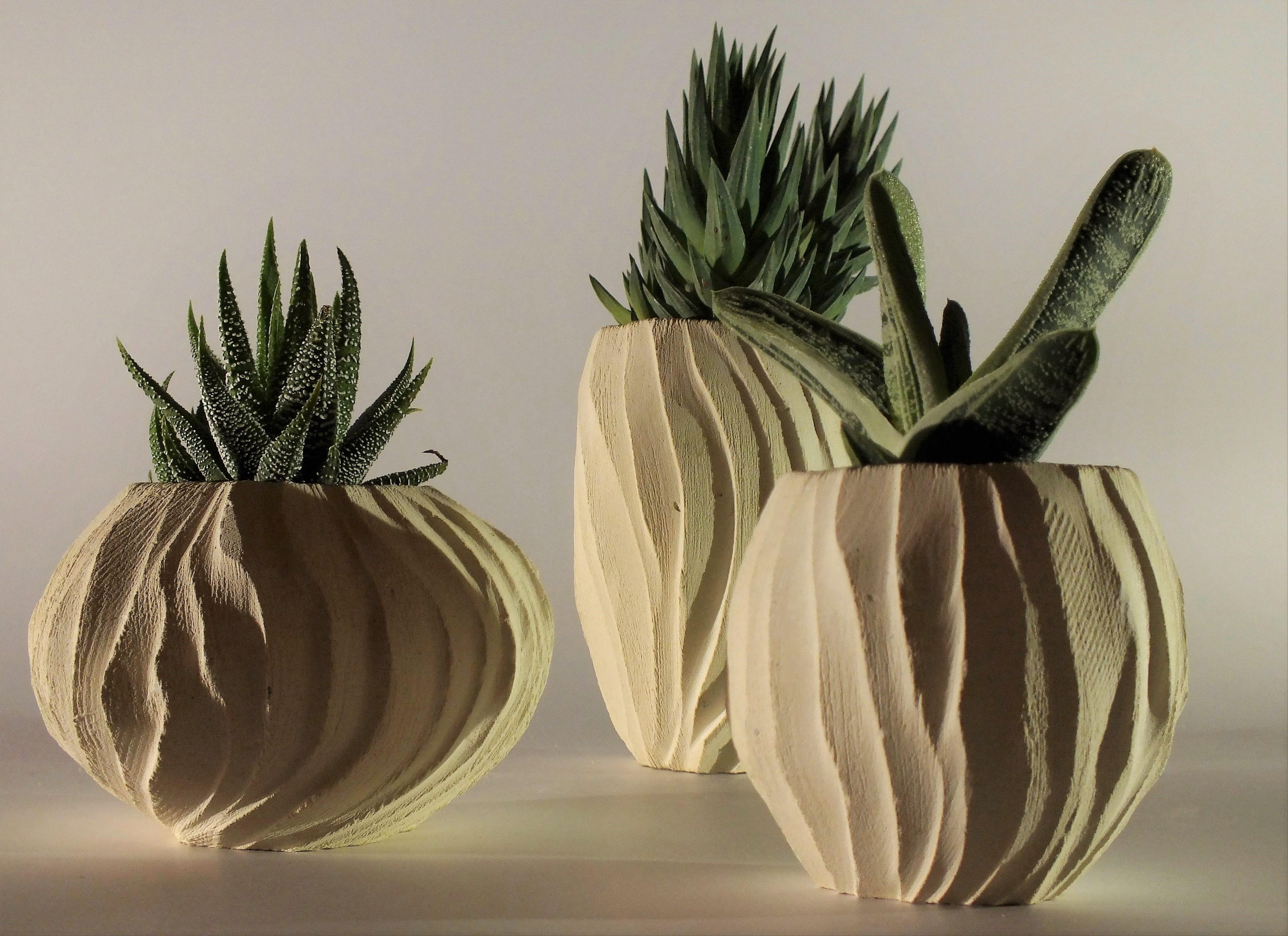 Madrepora_porta piante_tris_bianco