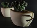 Polimaterico_porta piante_coppia_nero