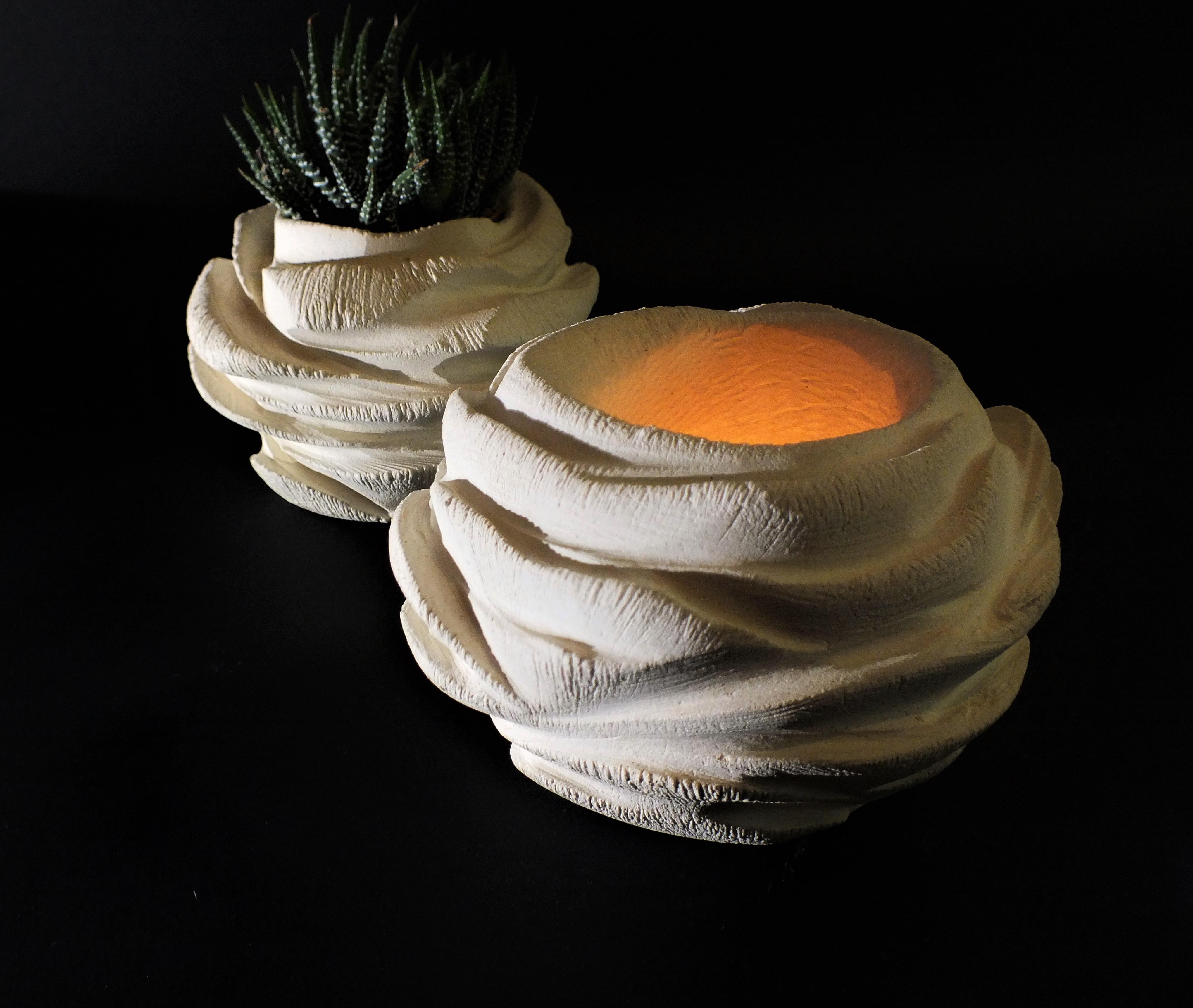 Rosa_porta piante_porta candele