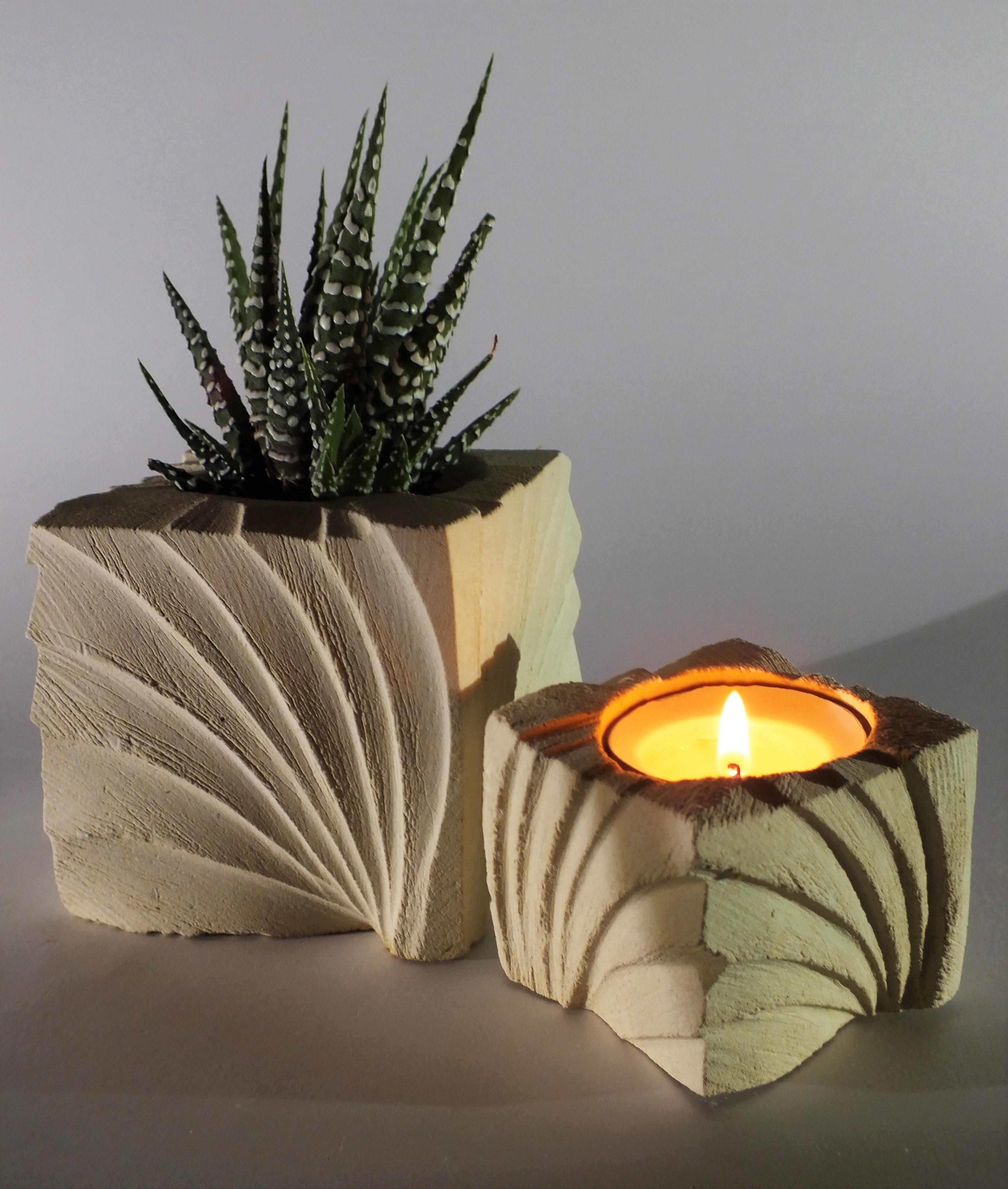 Ventaglio_porta piante e porta candele_bianco